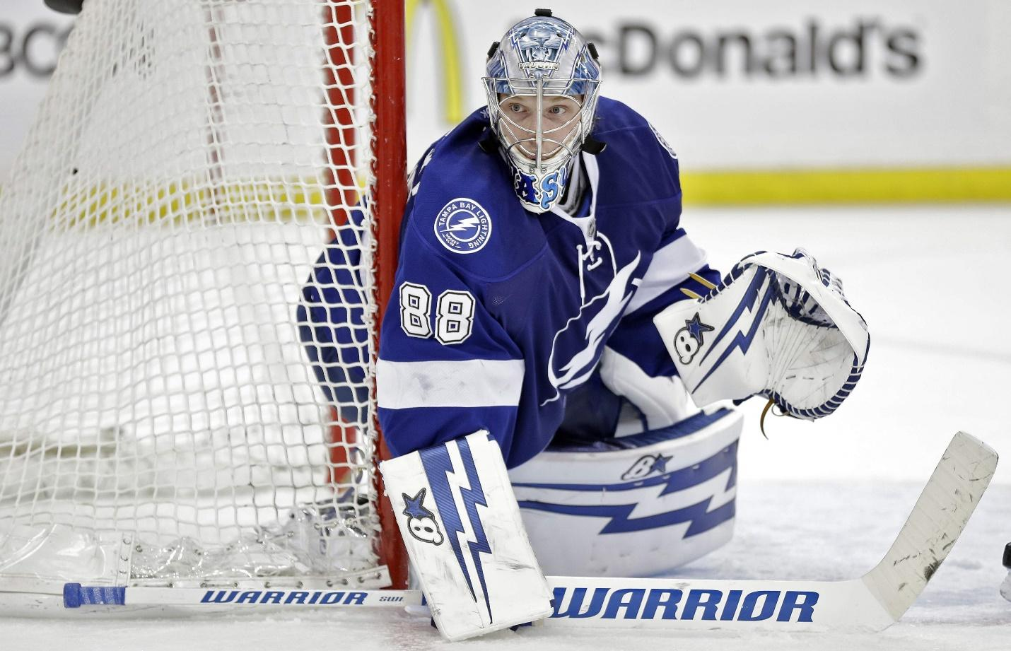 Since Ben Bishop has been traded to the LA Kings, Andrei Vasilevsky now is the starting goalie for the Tampa Bay Lightning.