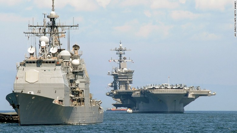 The+U.S.+aircraft+carrier%2C+Carl+Vinson%2C+that+was+dispatched+to+the+region+last+weekend.+