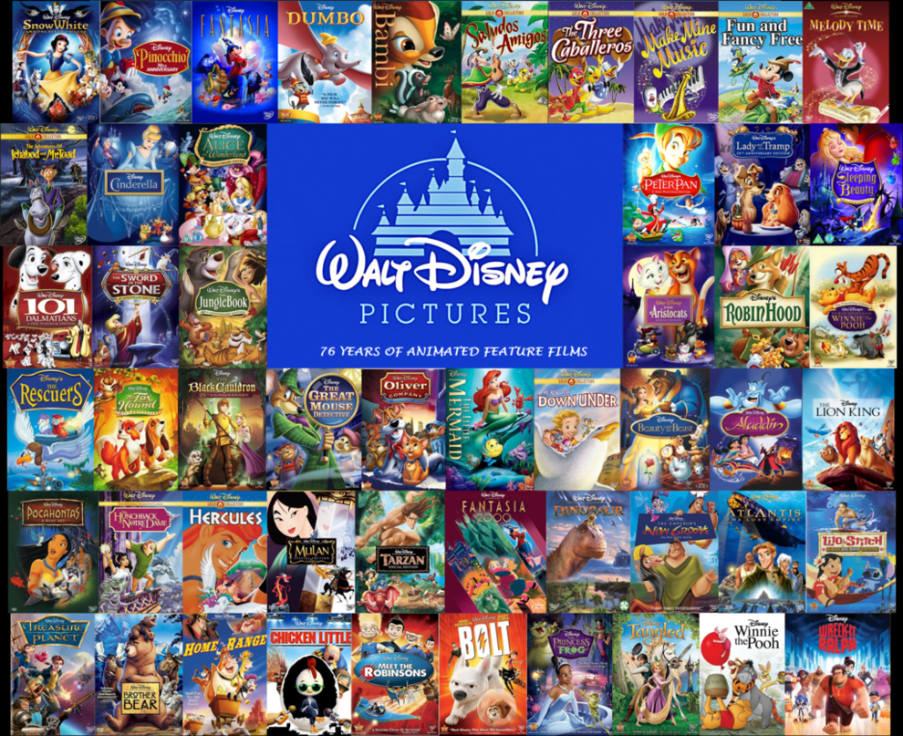 Every+Walt+Disney+movie+created+%28not+counting+Pixar%29+