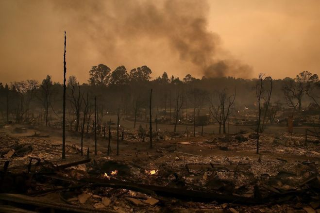 Northern+California+wildfire+aftermath.