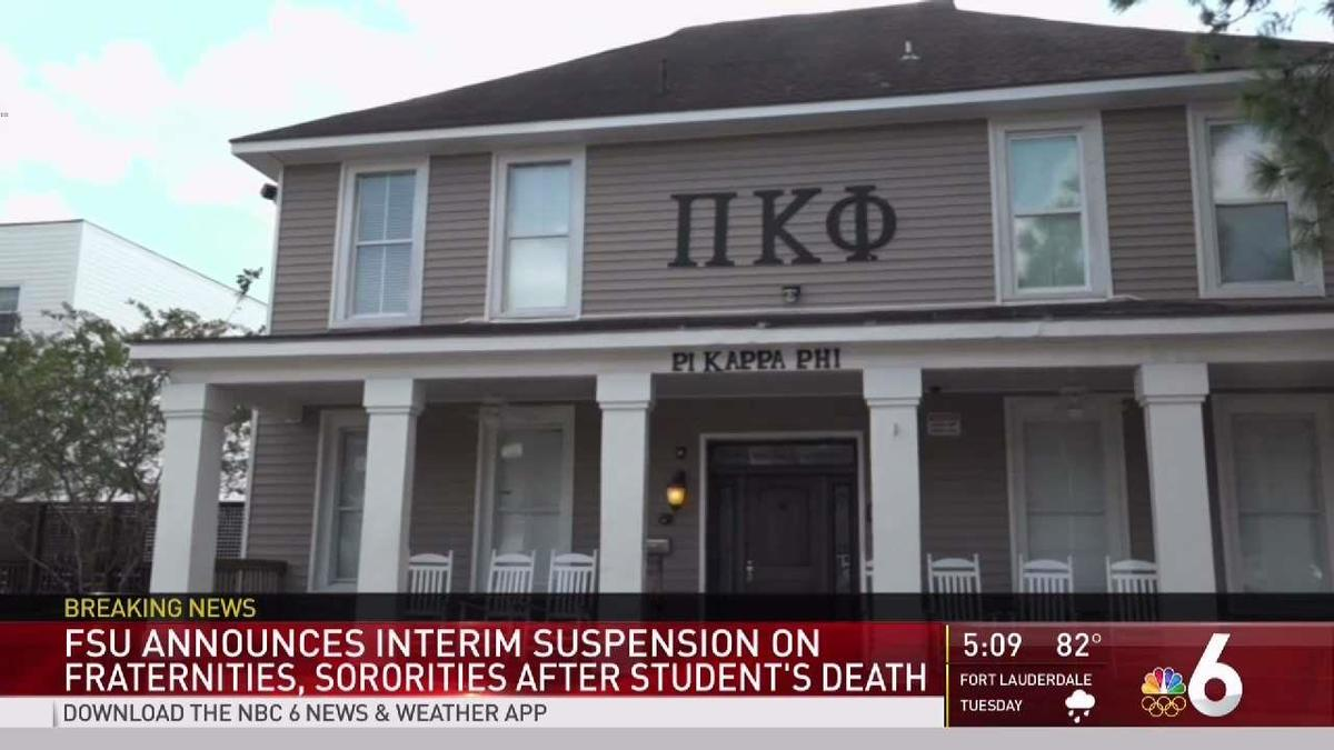The death of a Pi Kappa Phi pledge led to the suspension of all Greek activities.
