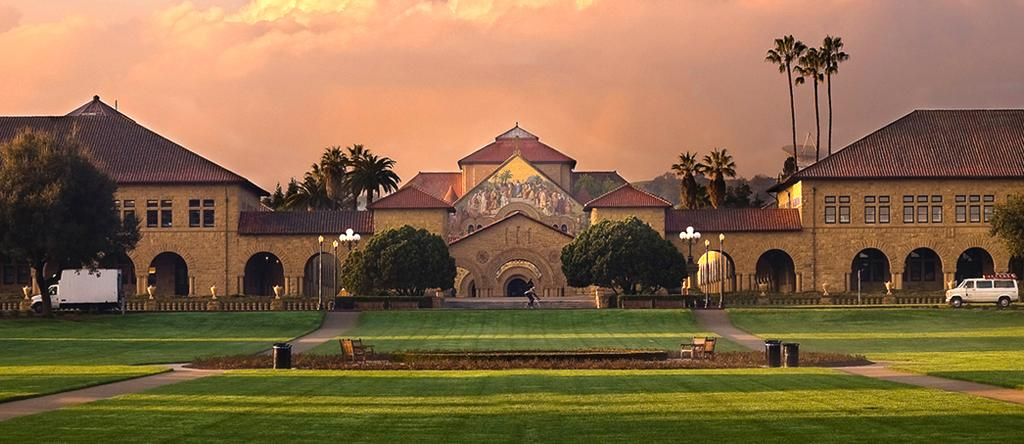 The beautiful Stanford campus.