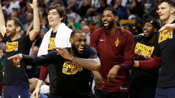 LeBron having fun again winning with the new team.