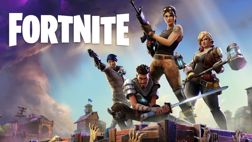 The+popular+game+Fortnite%2C+a+game+that+falls+under+the+Battle+Royale+genre.