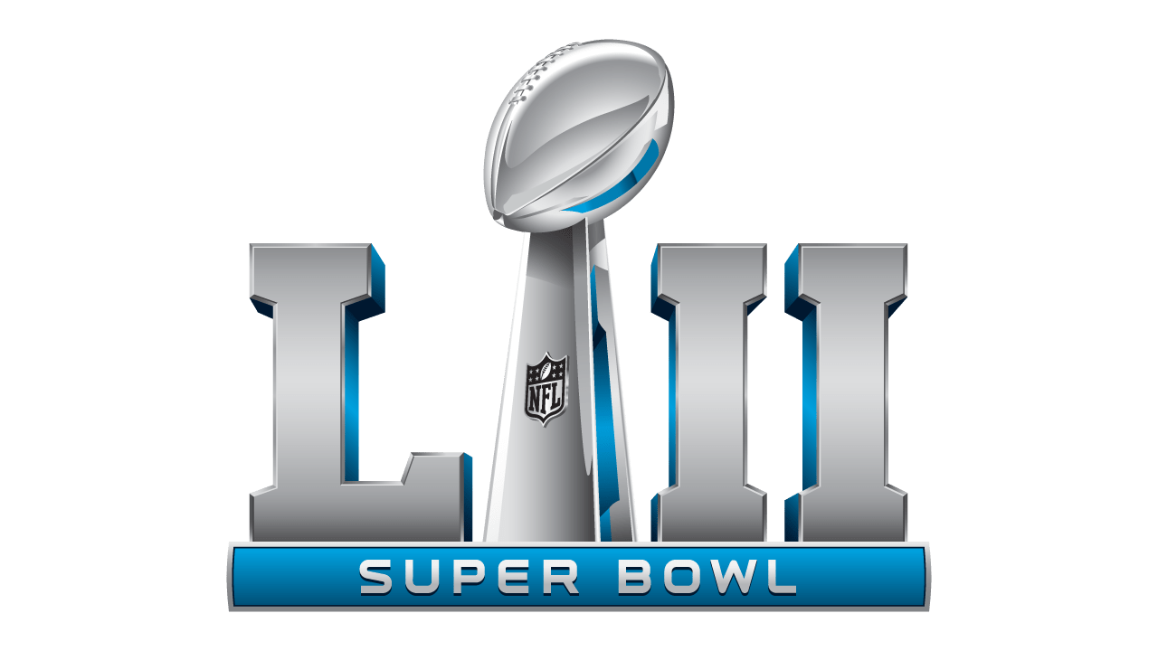 The Super Bowl 52 logo.