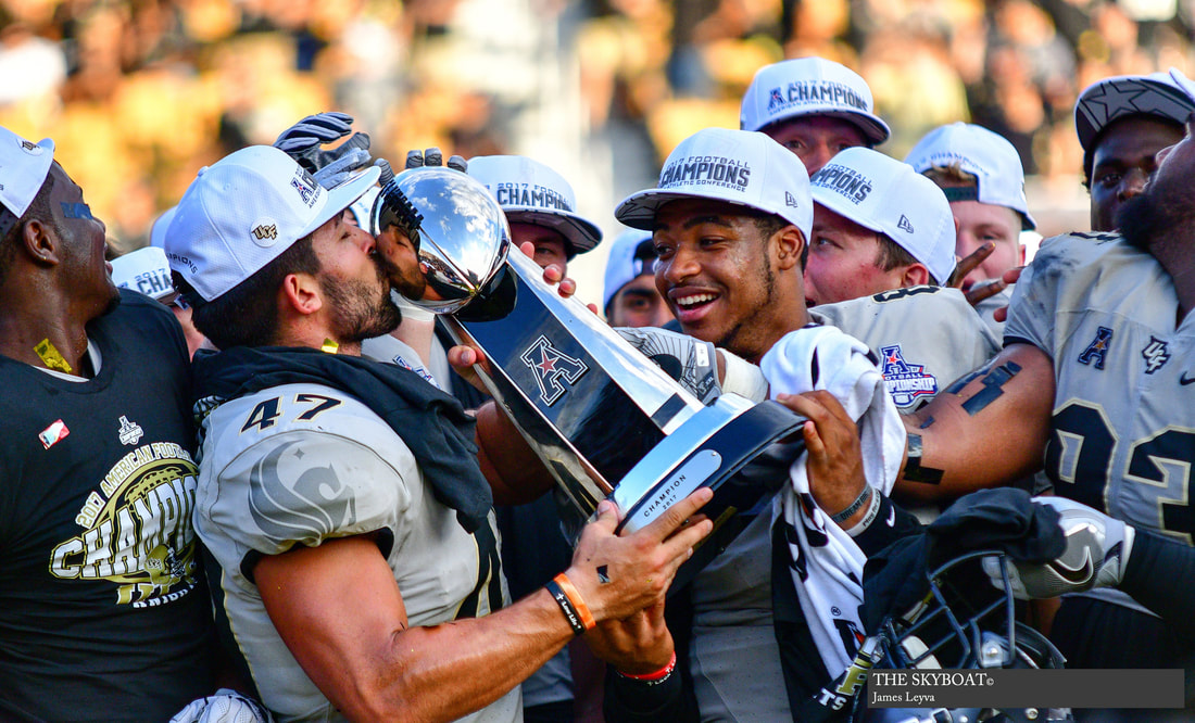 UCF when they won the Peach Bowl, completing their undefeated season.