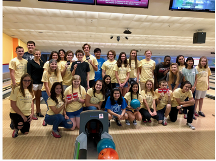 Pictured above is the East Lake chapter of Best Buddies at their annual bowling night!