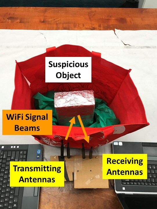This cheap and effective security system uses common Wi-Fi to detect potentially dangerous items on school property. The lab was led by Professor Yingying Chen.