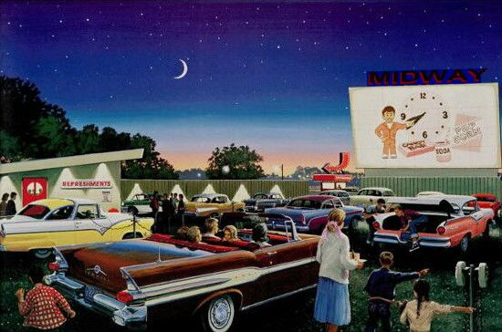 There are only 330 Drive-ins left in the U.S. today.