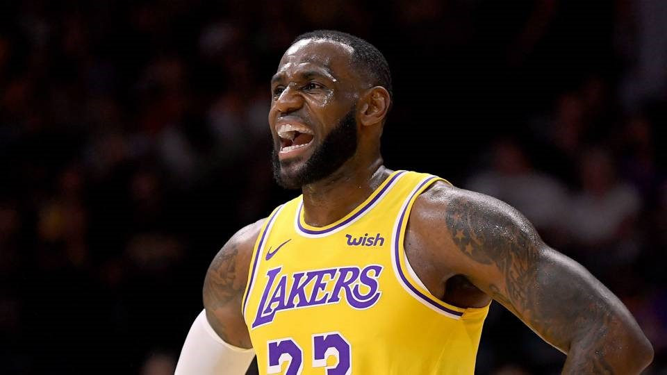 LeBron's reaction after being told he'd get 10 minutes of playing time a game, as shown above Photo from www.sportingnews.com