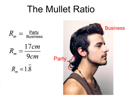 Via EdTech Magazine. Whether it's an artform or an intricate math equation, the mullet is a carefully perfected rad hairstyle.