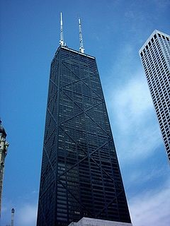 This is the 875 North Michigan Avenue, formerly known as the John Hancock Center, where the incident happened.