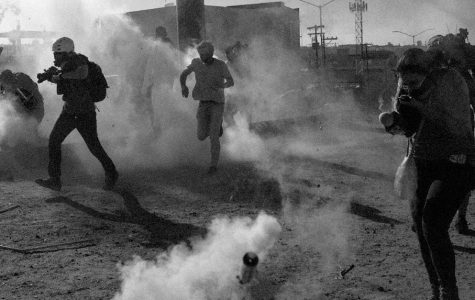 November 25th, tear gas opened on traveling immigrants as they attempted to make their entry into the US.