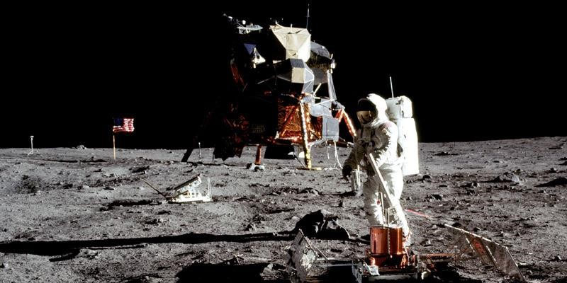Buzz+Aldrin+stands+on+the+surface+of+the+moon+in+1969.