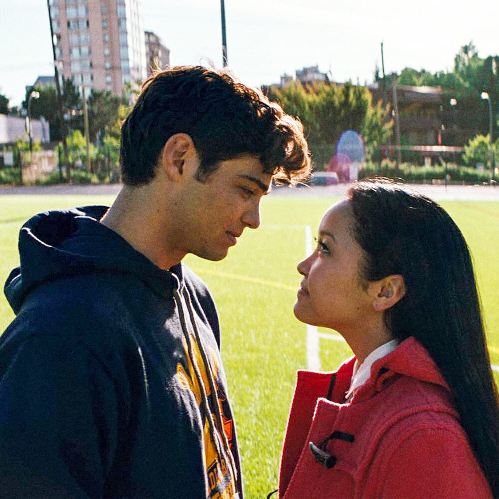 "Famous closing scene of ""To all the Boys I've Loved Before."""