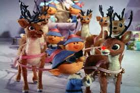 Rudolph and the reindeer gang.