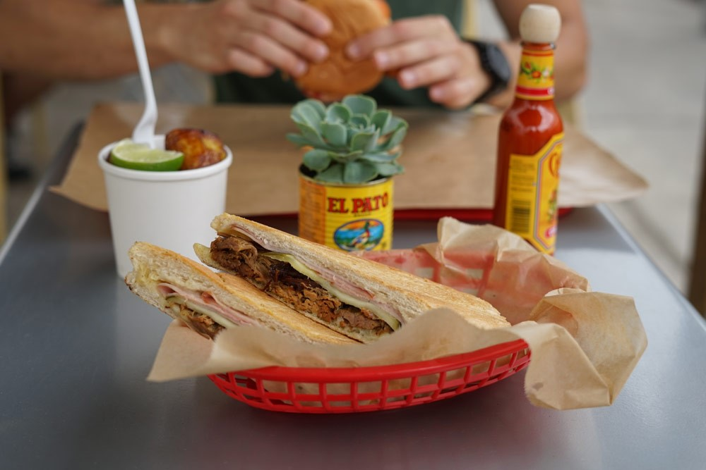 The yummy Cuban sandwich in all its glory.  Photo provided by http://eatatbodega.com/food