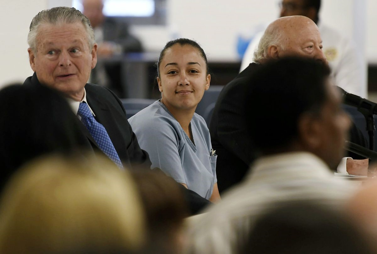 Cyntoia Brown flashes a smile after receiving clemency.