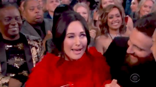 -+Kacey+Musgraves+perfectly+mimics+the+reaction+of+most+Americans+when+reacting+to+her+Best+Album+win.+This+type+of+forward+thinking+intelligence+must+have+been+reflected++in+her+cutting+edge+Yee-Haw+country+album.