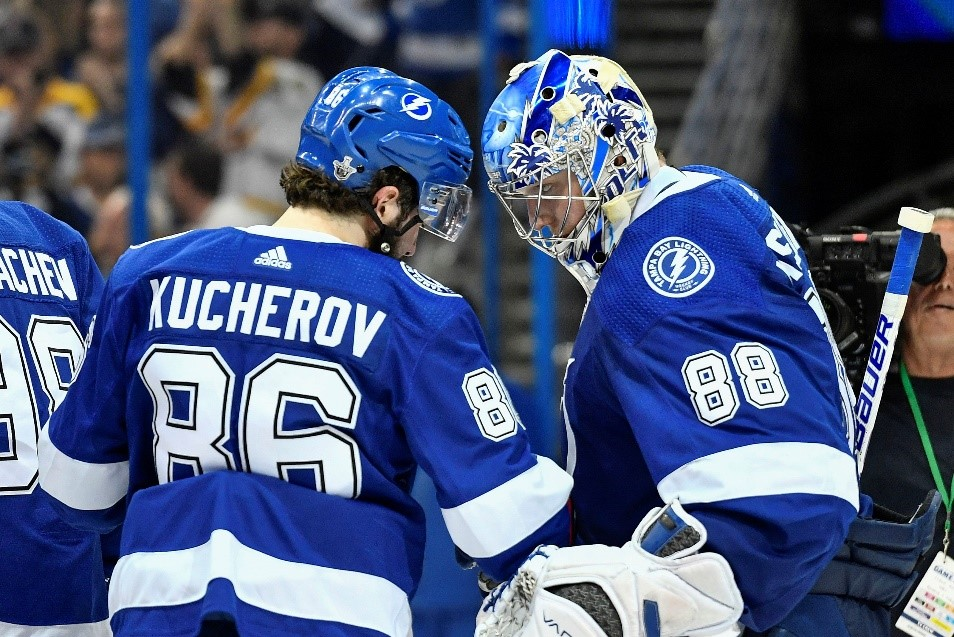 The Lightning are on pace to win a record-tying 62 games.