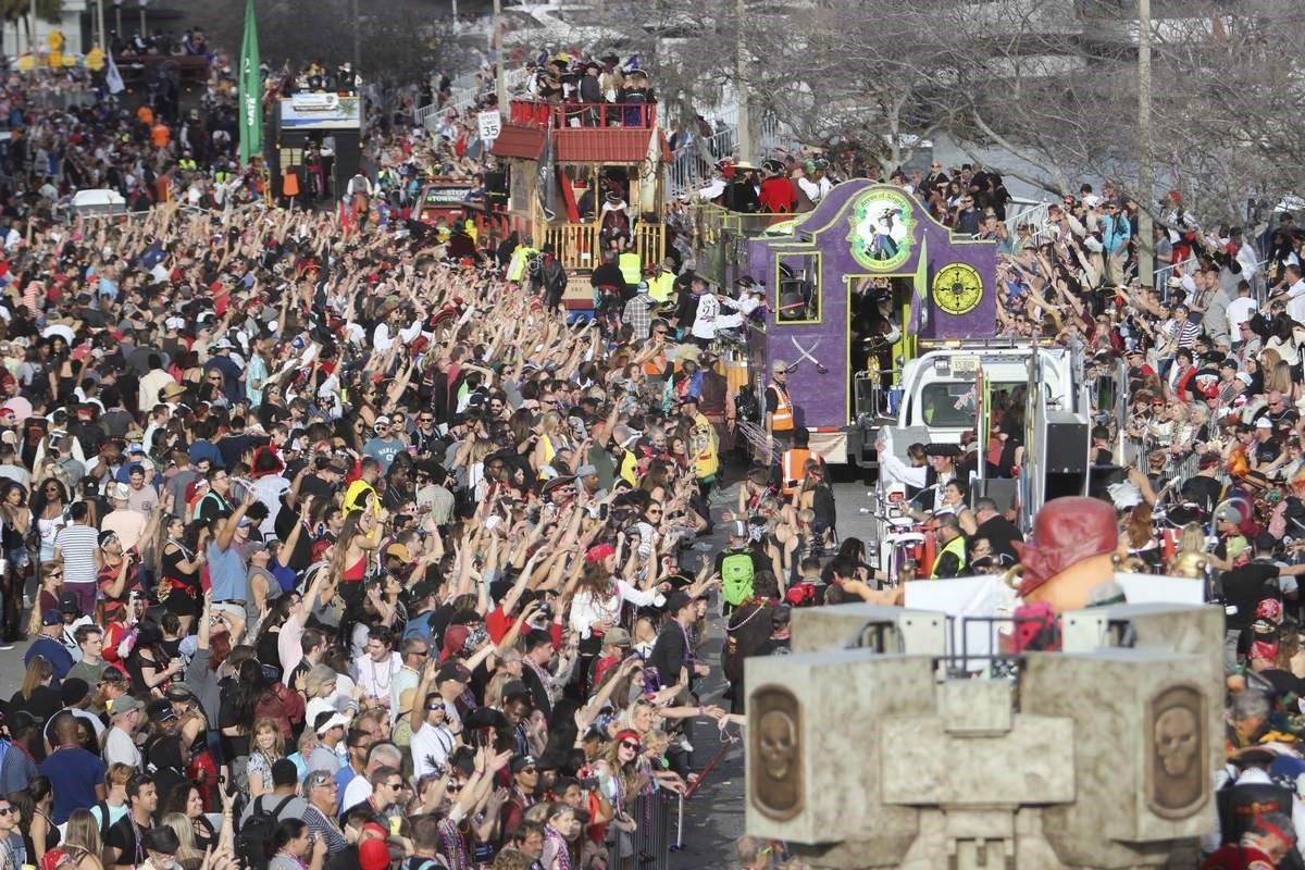 The chaotic enjoyment of Gasparilla, captured perfectly in the picture above.  Photo By: Tampa Bay Times