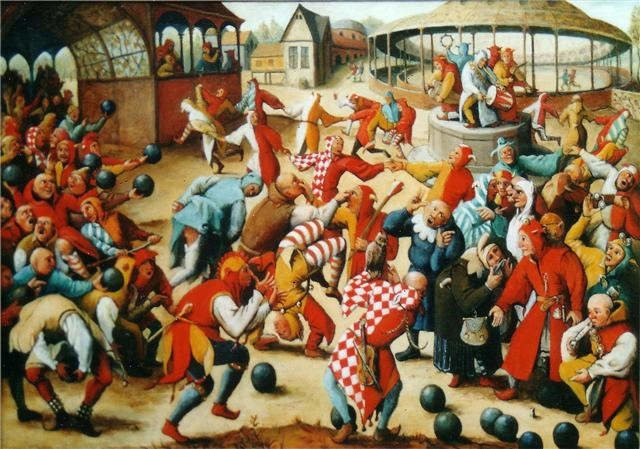 Festival of the Fools celebrated in medieval France and England. Facts and picture obtained from http://blog.learningresources.com/celebrate-april-fools-day/.
