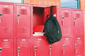 Backpacks and lockers in school