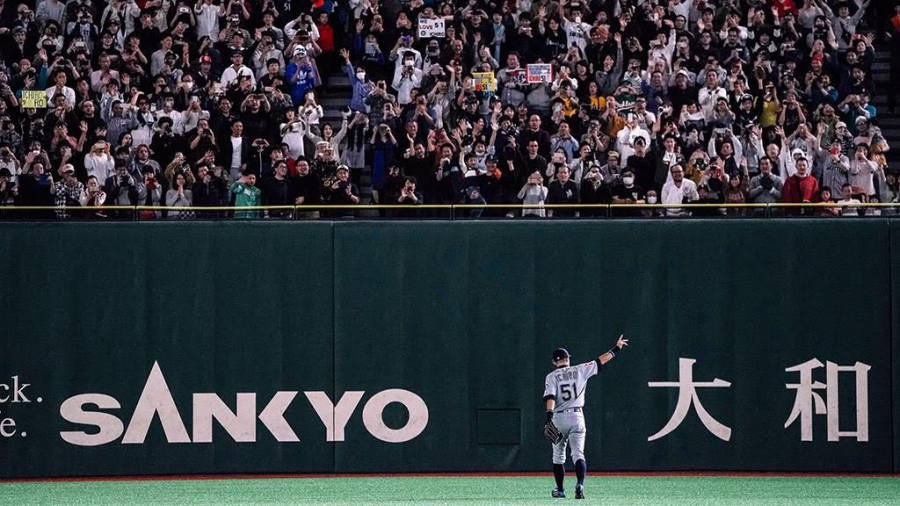 Ichiro+says+goodbye+to+fans+in+Japan+at+the+Tokyo+Dome+on+March+21%2C+2019+believed+to+be+his+final+game.