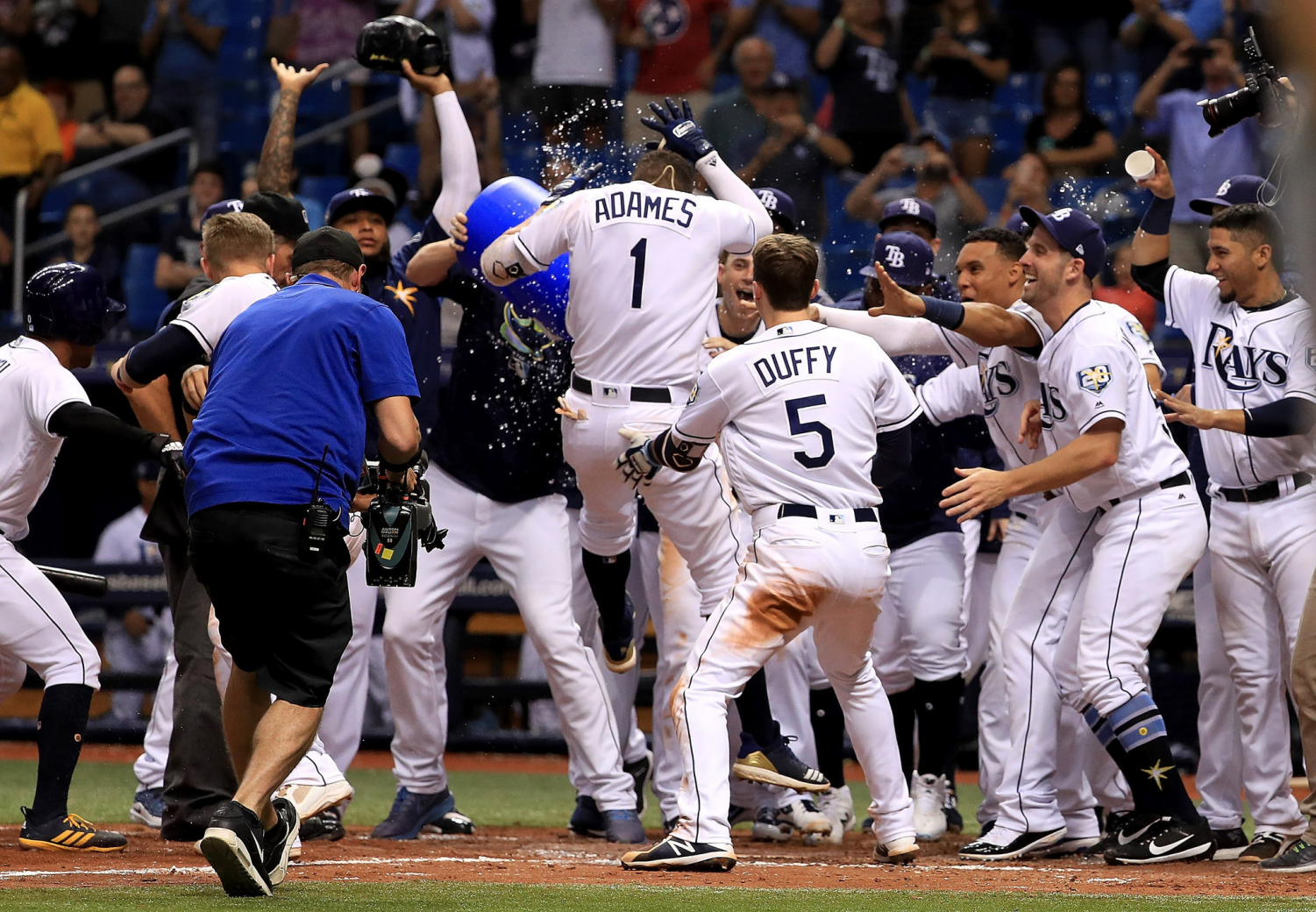 The Rays hope to see many more exciting moments, like this Willy Adames walk-off homerun, in 2019.