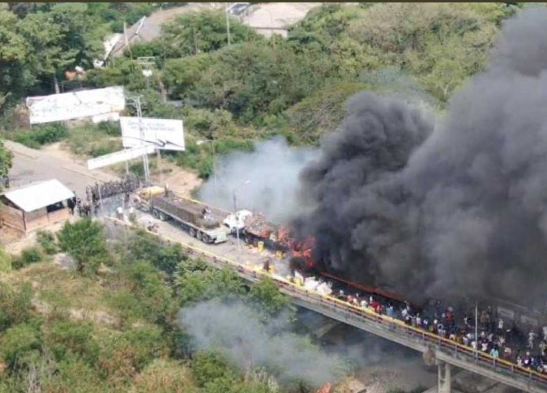 channel1a.com Maduro burns humanitarian aid trying to save his people