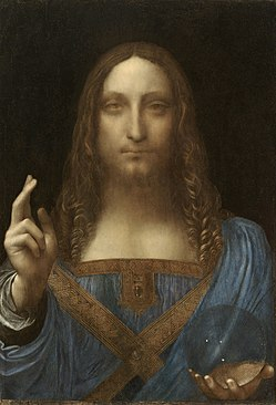 "The missing painting, ""Salvator Mundi"" by Leonardo Da Vinci portraying Jesus as the Savior of the World (Salvator Mundi in latin). Photo provided by Wikipedia.org"