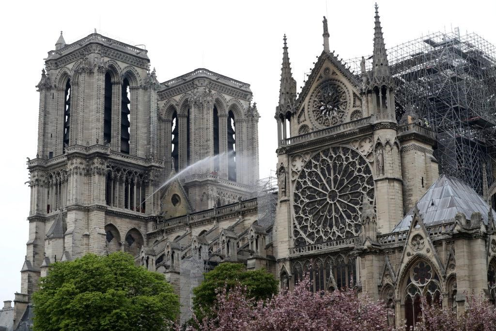 Notre Dame which is now undergoing restorations.