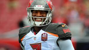 Jameis cracks a smile after an interception.