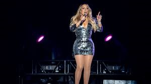 "The gorgeous Mariah Carey performs on her ""All I want for Christmas is you"" tour. masslive.com"