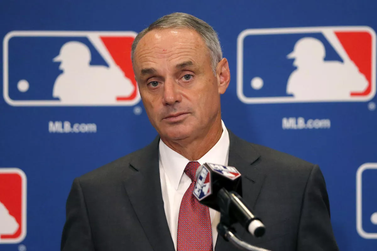 Rob Manfred has come under fire recently for proposed radical changes to the MLB Postseason. Photo provided by twinkietown.com