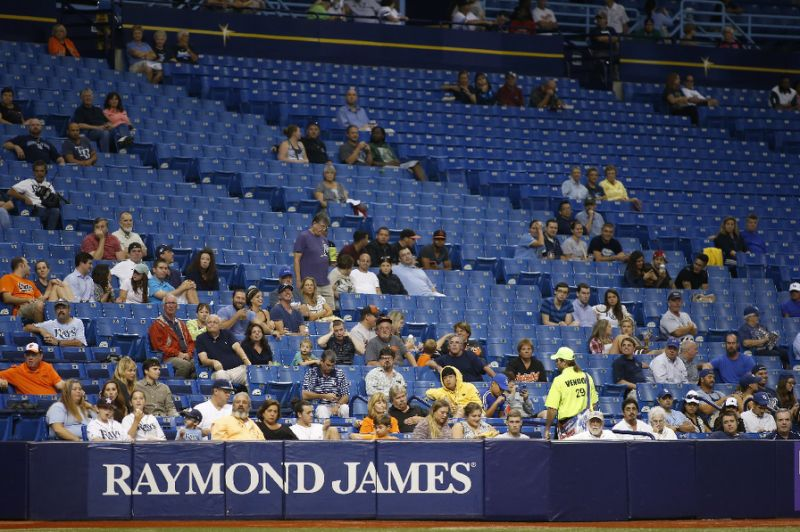 Seas of empty seats are a common sight at Rays games. Photo provided by finance.yahoo.com