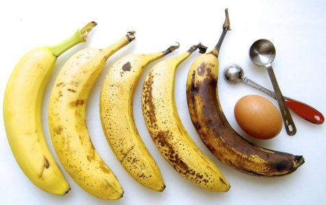 """I believe that a """"perfect"""" banana is flecked with brown spots."""