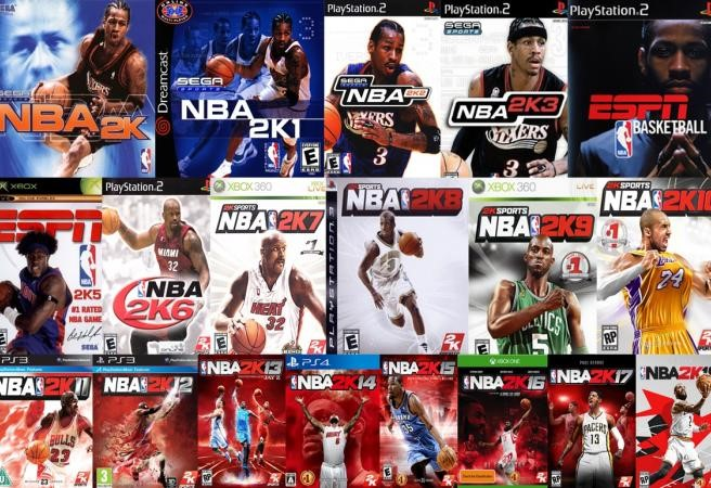 The various 2K games form the years starting in 2000.