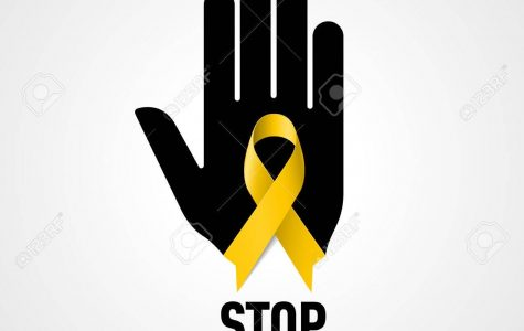 The yellow ribbon that people wear represents suicide awareness.