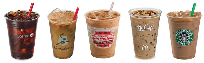 So many choices for cold caffeination.