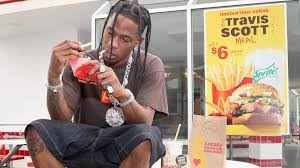 Travis Scott enjoys his very own meal.