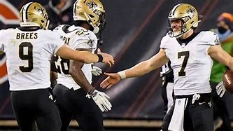 The Saints had a come from behind victory on Sunday against the Bears.