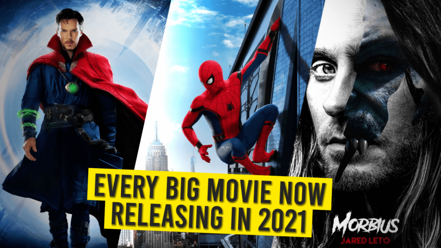 A picture to show that the year 2021 will be a year filled with many spectacular movies! We patiently wait for these upcoming movies with excitement. In the cover of the picture is Doctor Strange said to appear in the next Spiderman movie. In the far right Morbius a villain from the Spiderman comics.