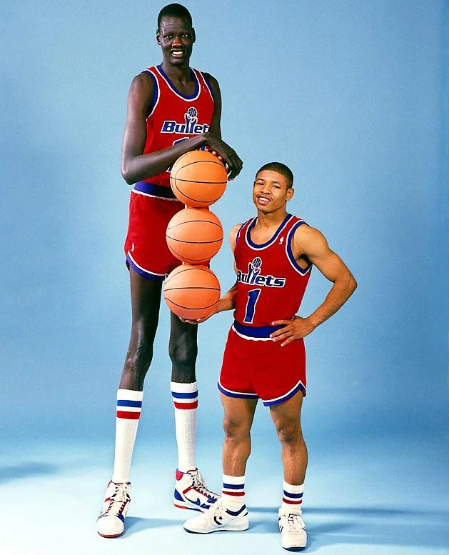 Biggest height difference in NBA history.