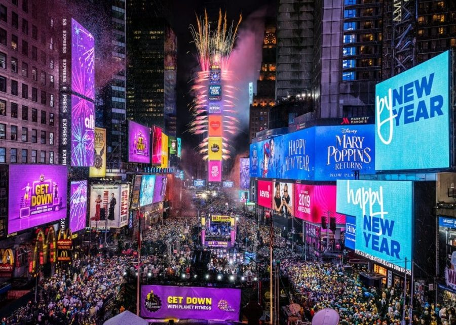 NYE+ball+drop+at+Times+Square.