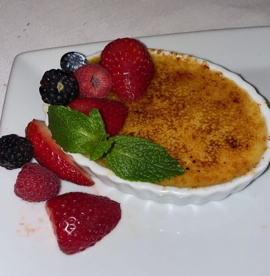 This picture doesn't do this superb crème brûlée any justice. One of the best things I've ever eaten.