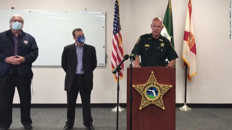 Sheriff Bob Gualtieri gives press conference on attempted hacking of Oldsmar water system. Source: CNN