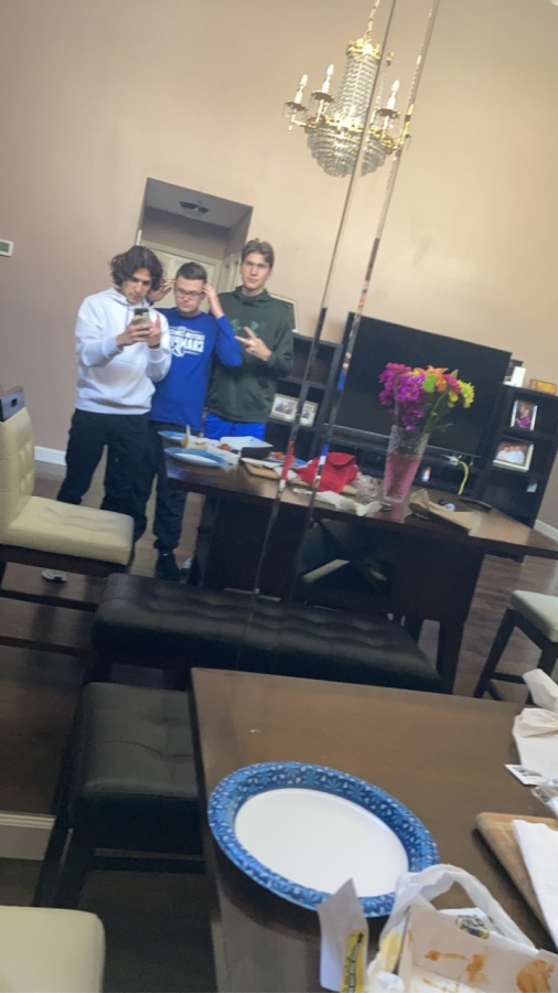 We prepared for our spicy meal with a sexy mirror selfie.