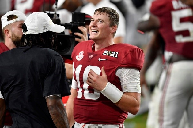 Alabama quarterback Mac Jones is projected to go as high as third overall on Thursday, which I believe is a huge reach.