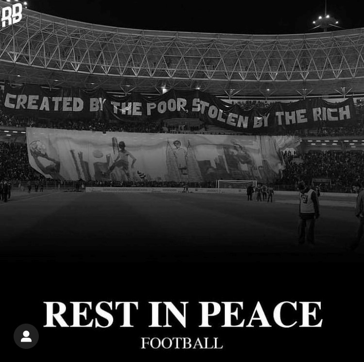 The fans spoke for everyone as this viral image displaying how the people felt about the Super League was spread across social media like wildfire.